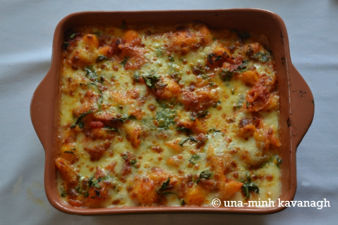 Recipe: Gnocchi, bacon and tomato bake