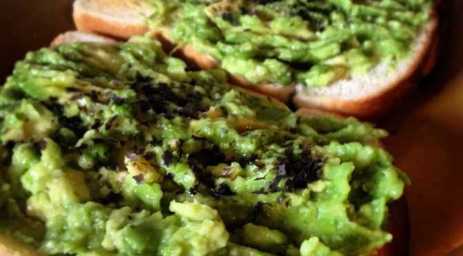 Recipe: mashed avocado with nori on toast